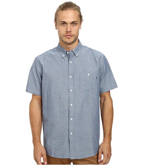Obey - Bower Short Sleeve Woven (Light Blue) Men's Short Sleeve Button Up