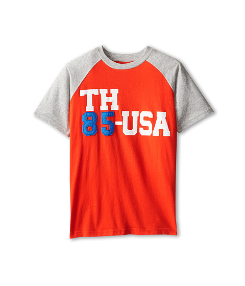 Tommy Hilfiger Kids - Short Sleeve TH85USA (Big Kids) (Laser Beam) Boy