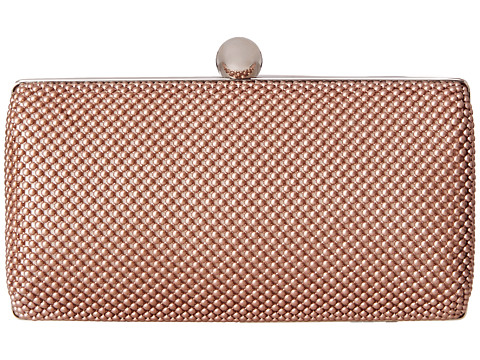 Jessica McClintock - Ball Mesh Minaudier (Blush) Handbags