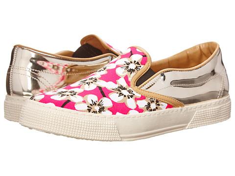 Kurt Geiger - London (Pink Fabric) Women's Slip on Shoes
