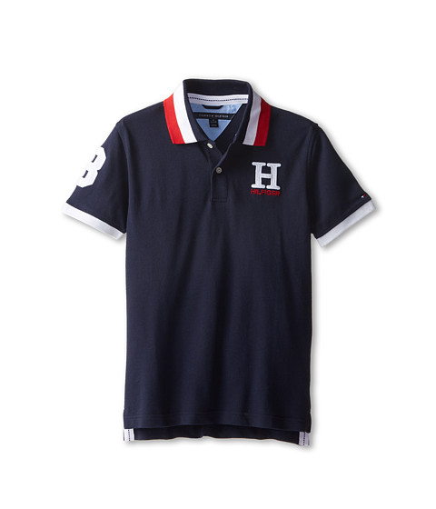 Tommy Hilfiger Kids - Short Sleeve Matt Polo (Big Kids) (Master Navy) Boy