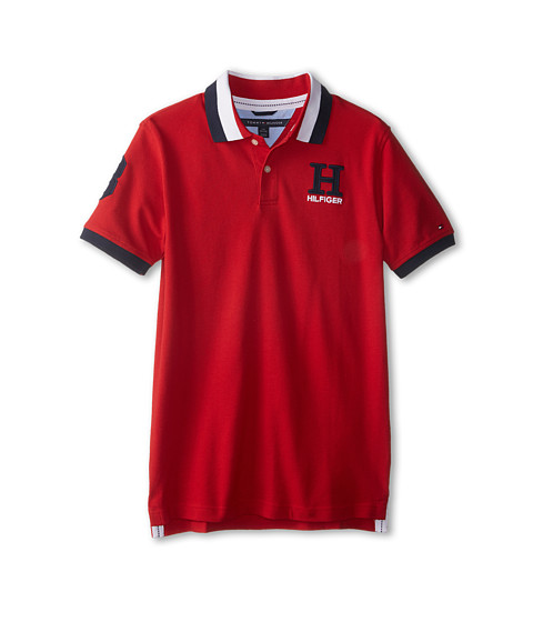 Tommy Hilfiger Kids - Short Sleeve Matt Polo (Big Kids) (Regal Red) Boy's Short Sleeve Pullover