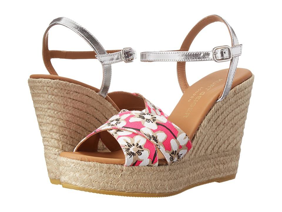 Kurt Geiger - Amerie (Pink Combo Fabric) Women's Wedge Shoes