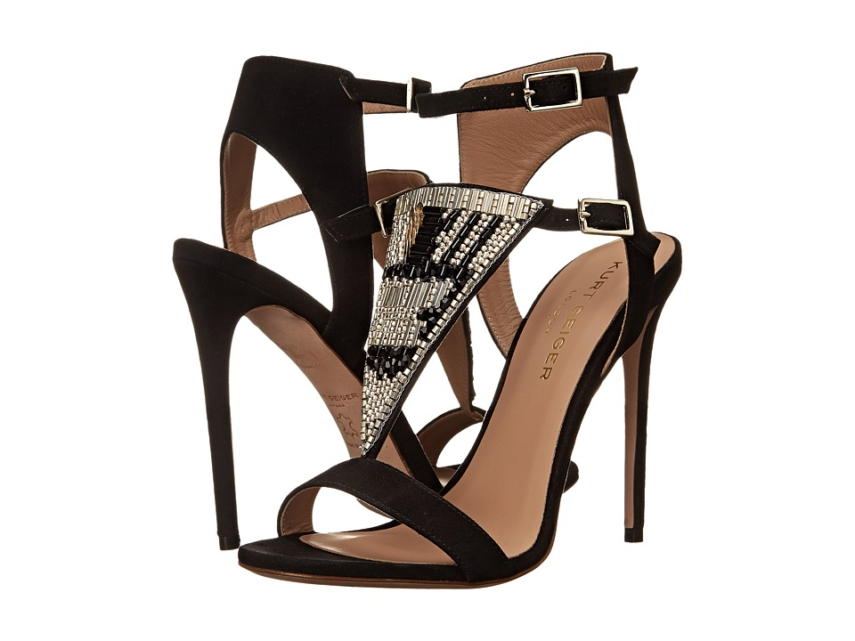 Kurt Geiger - Kiya (Black Suede) High Heels