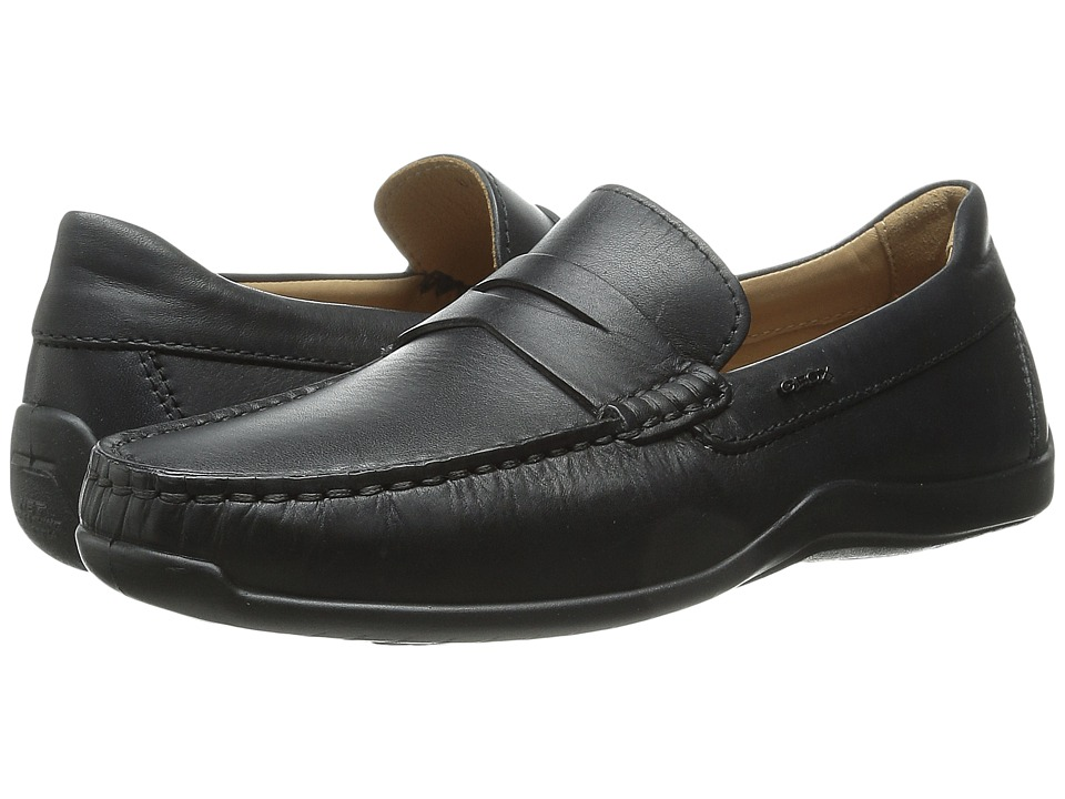 Geox - U Xense Mox 7 (Black) Men's Moccasin Shoes