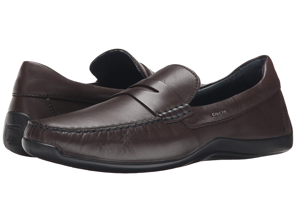 Geox - U Xense Mox 7 (Coffee) Men's Moccasin Shoes