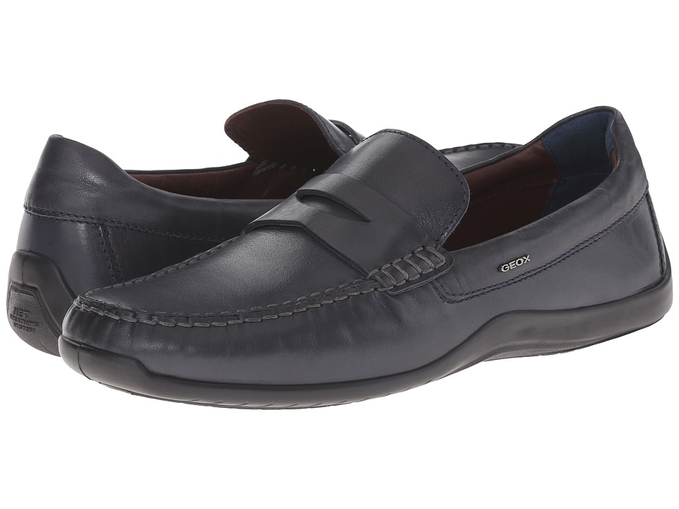 Geox - U Xense Mox 7 (Navy) Men's Moccasin Shoes