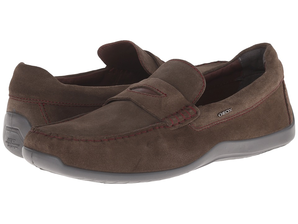 Geox - U Xense Mox 5 (Olive) Men's Moccasin Shoes