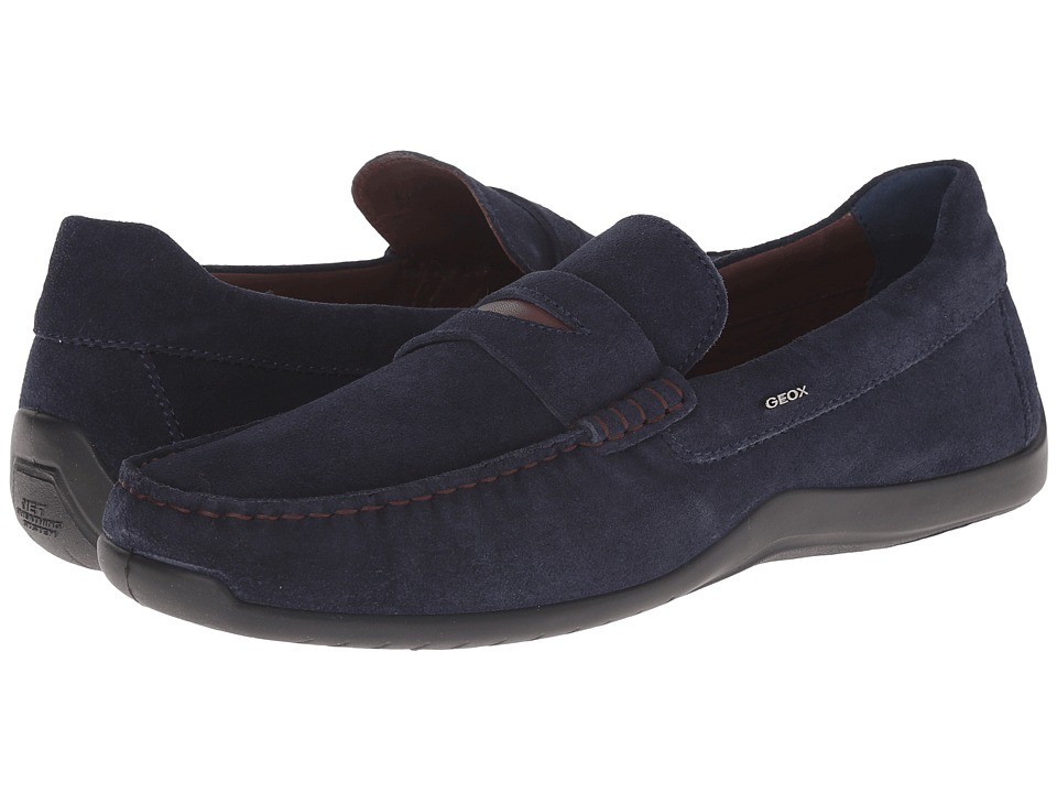 Geox - U Xense Mox 5 (Navy) Men's Moccasin Shoes