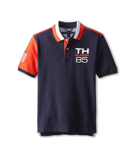 Tommy Hilfiger Kids - USA Polo (Big Kids) (Swim Navy) Boy