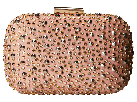 Jessica McClintock - Stones and Studs Minaudiere (Blush) Handbags