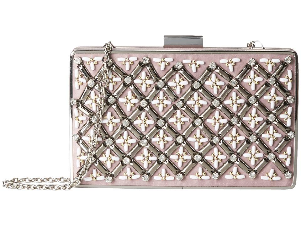 Jessica McClintock - Lattice Bead Minaudier (Blush) Handbags