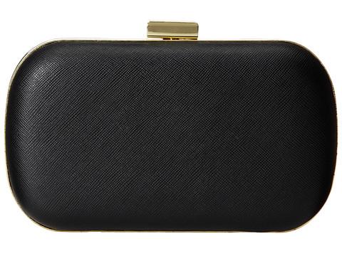 Jessica McClintock - Saffiano Minaudiere (Black) Handbags