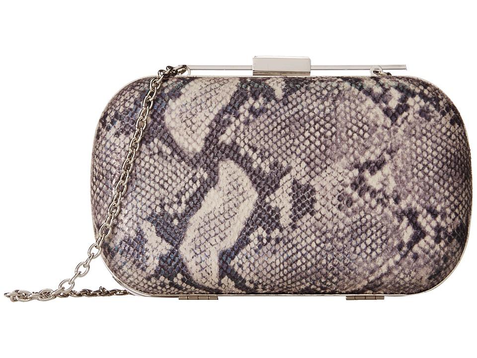 Jessica McClintock - Irridescent Snake Minaudier (Pewter) Handbags
