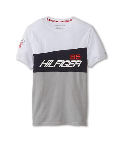 Tommy Hilfiger Kids - Short Sleeve Athlete Crew (Big Kids) (White) Boy's Short Sleeve Pullover