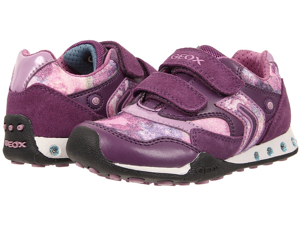 Geox Kids - New Jocker Girl 31 (Toddler/Little Kid) (Prune) Girl's Shoes