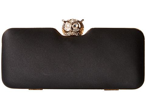 Jessica McClintock - Owl Minaudier (Black) Handbags
