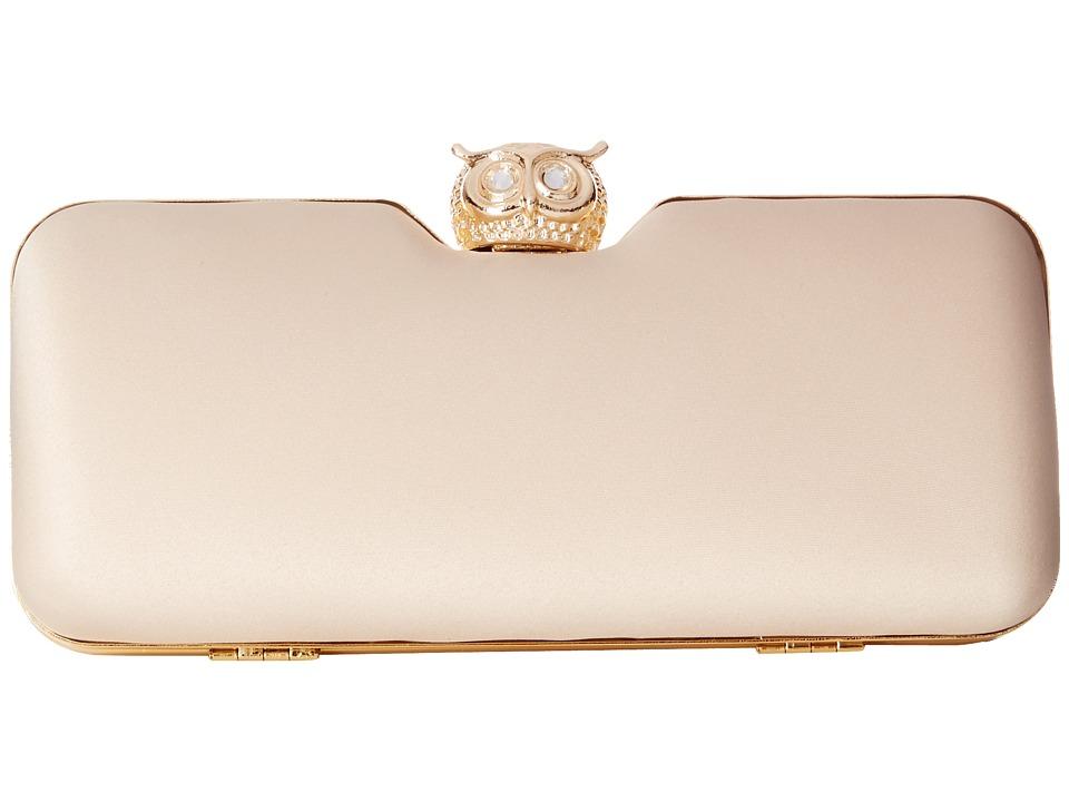 Jessica McClintock - Owl Minaudier (Champagne) Handbags