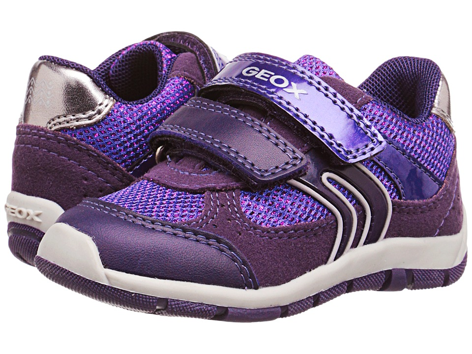 Geox Kids - Shaax Girl 7 (Toddler) (Prune) Girl's Shoes