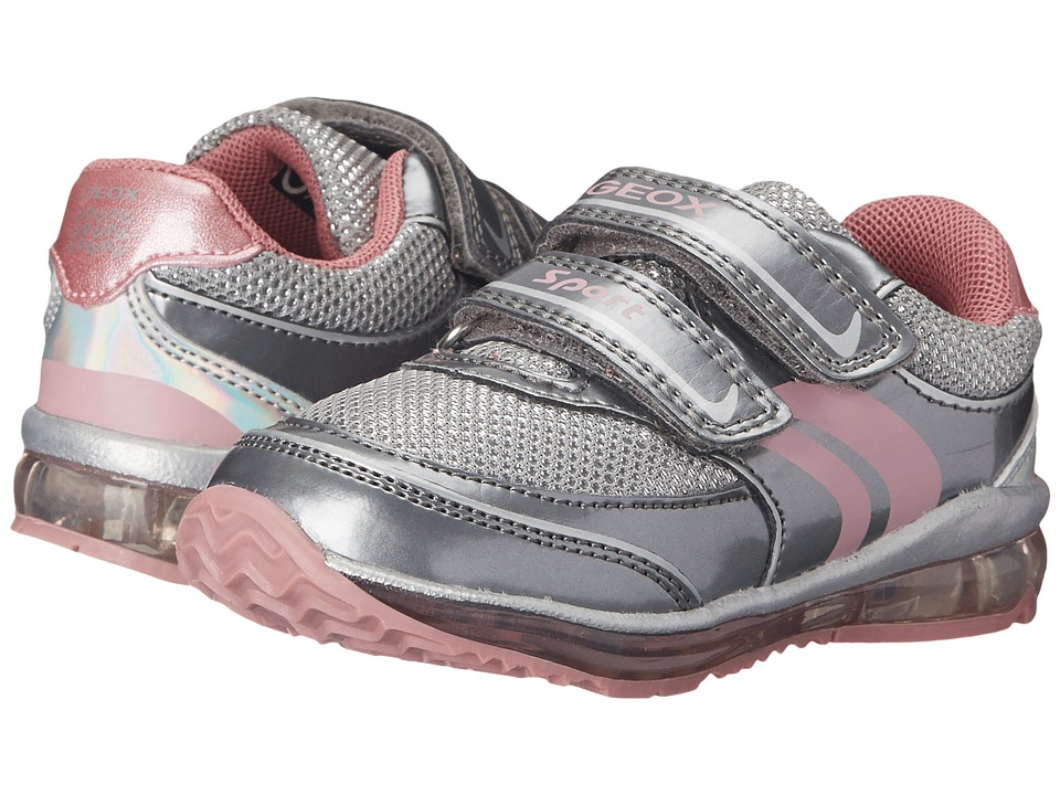 Geox Kids - Todo Girl 1 (Toddler) (Grey/Pink) Girl's Shoes