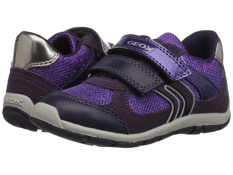 Geox Kids - Shaax Girl 7 (Toddler) (Prune) Girl's Shoes