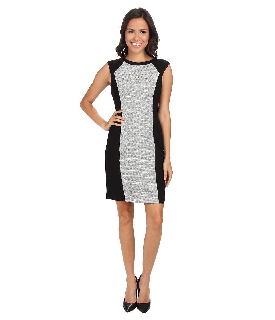 NYDJ - Willa Ponte/Knit Jacquard Dress (Black) Women