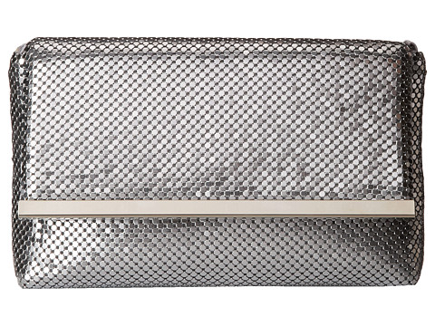 Jessica McClintock - Mesh Bar Mini Bag (Silver) Handbags