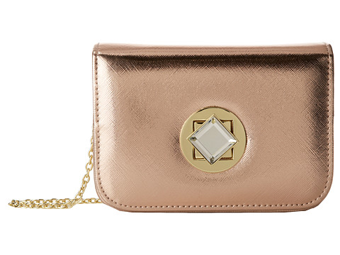 Jessica McClintock - Saffiano Diamond Mini Bag (Blush) Handbags