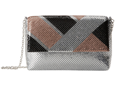 Jessica McClintock - Colo Block Mesh Mini Bag (Silver) Handbags