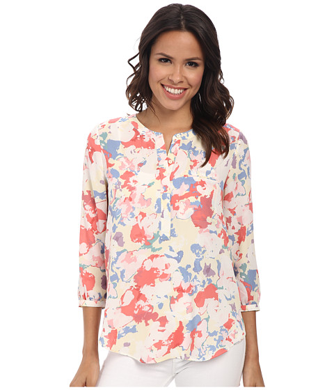 NYDJ - 3/4 Sleeve Pleat Back (Floral Collage) Women