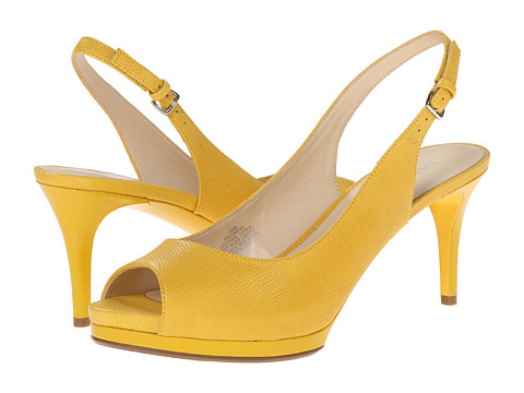 Nine West - Cinema (Yellow Leather) High Heels