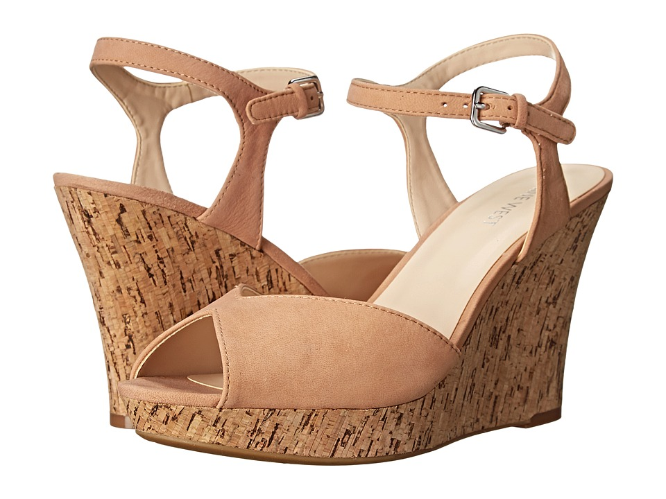 Nine West - Bigeasy (Light Natural Leather) Women's Wedge Shoes