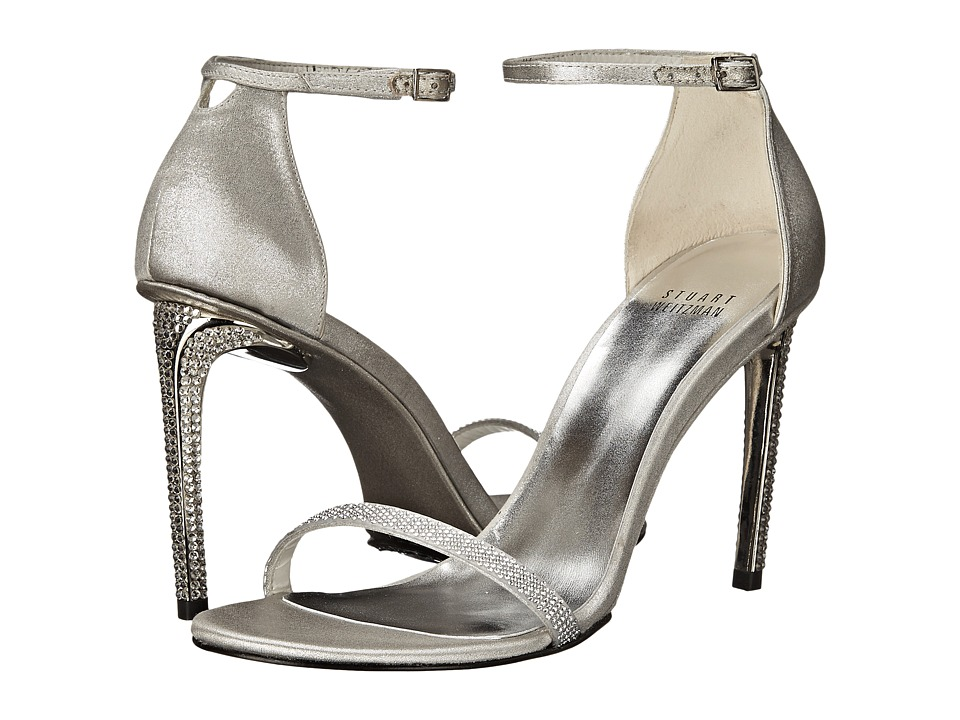 Stuart Weitzman Bridal & Evening Collection Gleam (Chrome Raso) High Heels