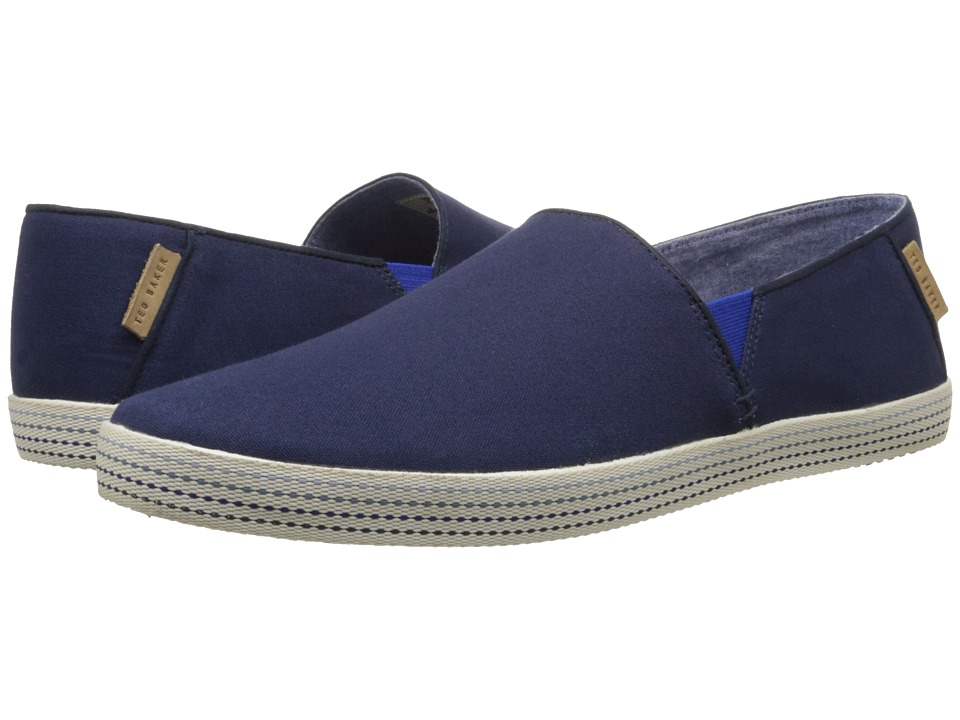 Ted Baker - Leeno (Dark Blue Textile) Men's Slip on Shoes