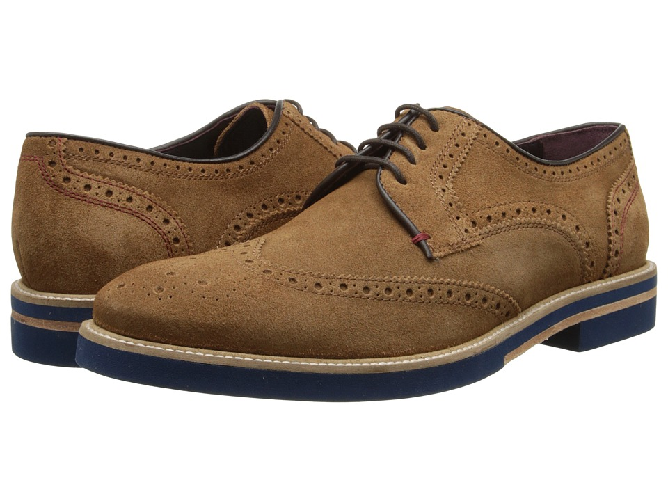 Ted Baker - Archerr (Tan Suede) Men's Lace Up Wing Tip Shoes