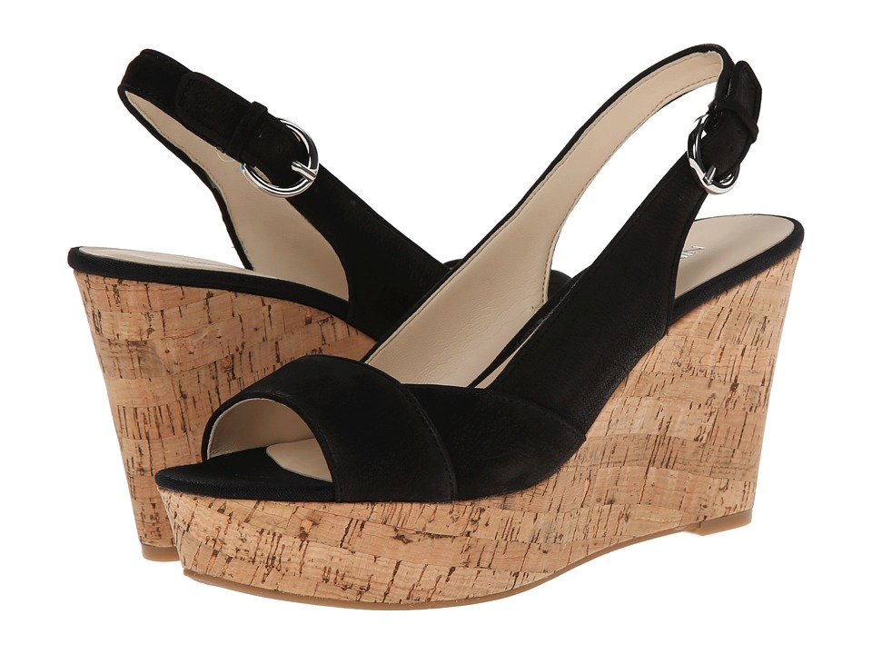 Nine West - Caballo (Black Nubuck) Women's Wedge Shoes