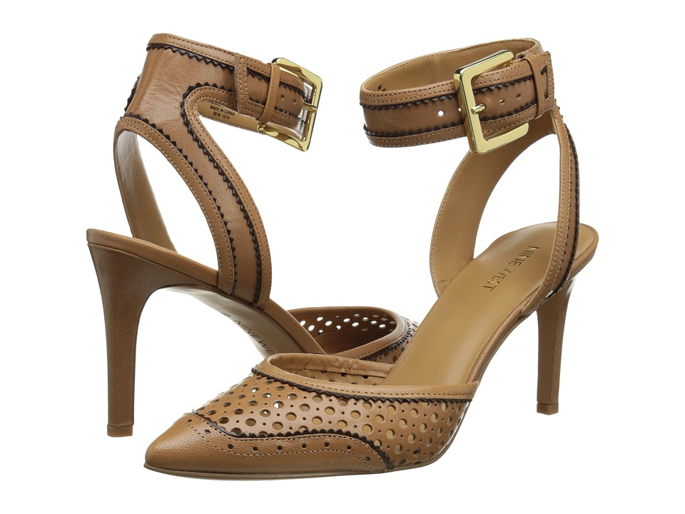 Nine West - Calypso (Natural/Dark Brown Leather) High Heels