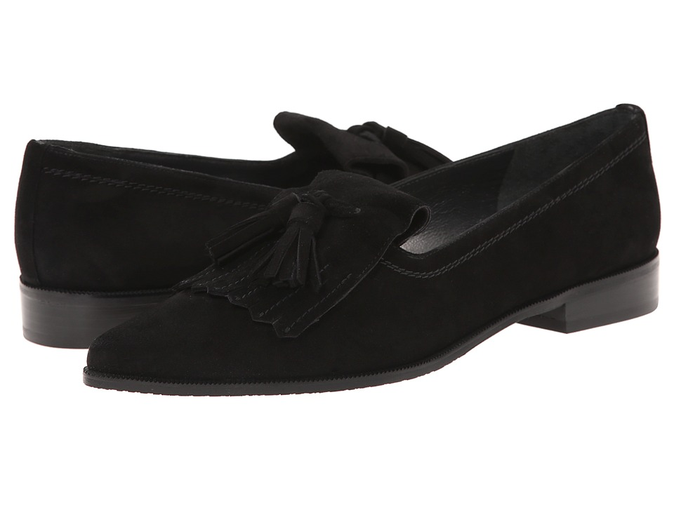 Stuart Weitzman - Avatass (Black Suede) Women's Slip-on Dress Shoes