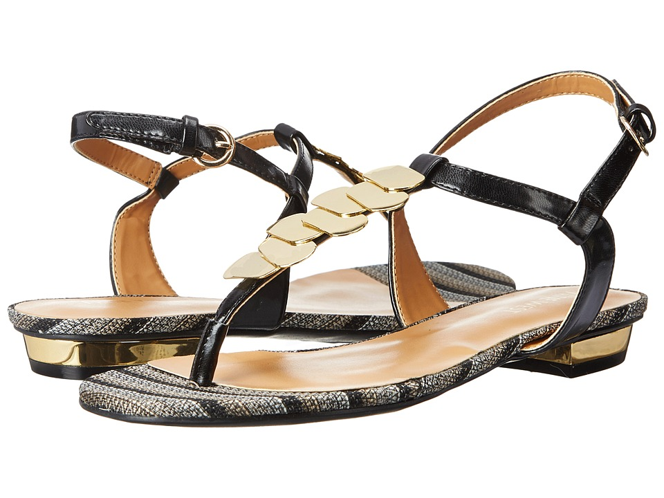 Nine West - Uzima (Black Synthetic) Women's Sandals
