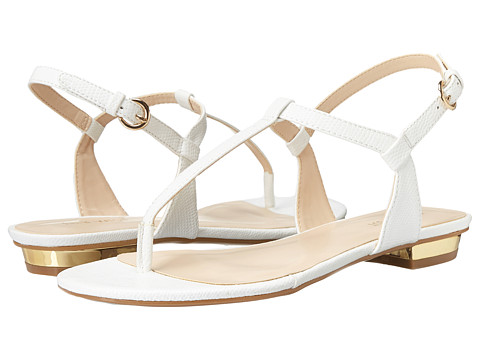 Nine West - Unlock (White Synthetic) Women's Sandals