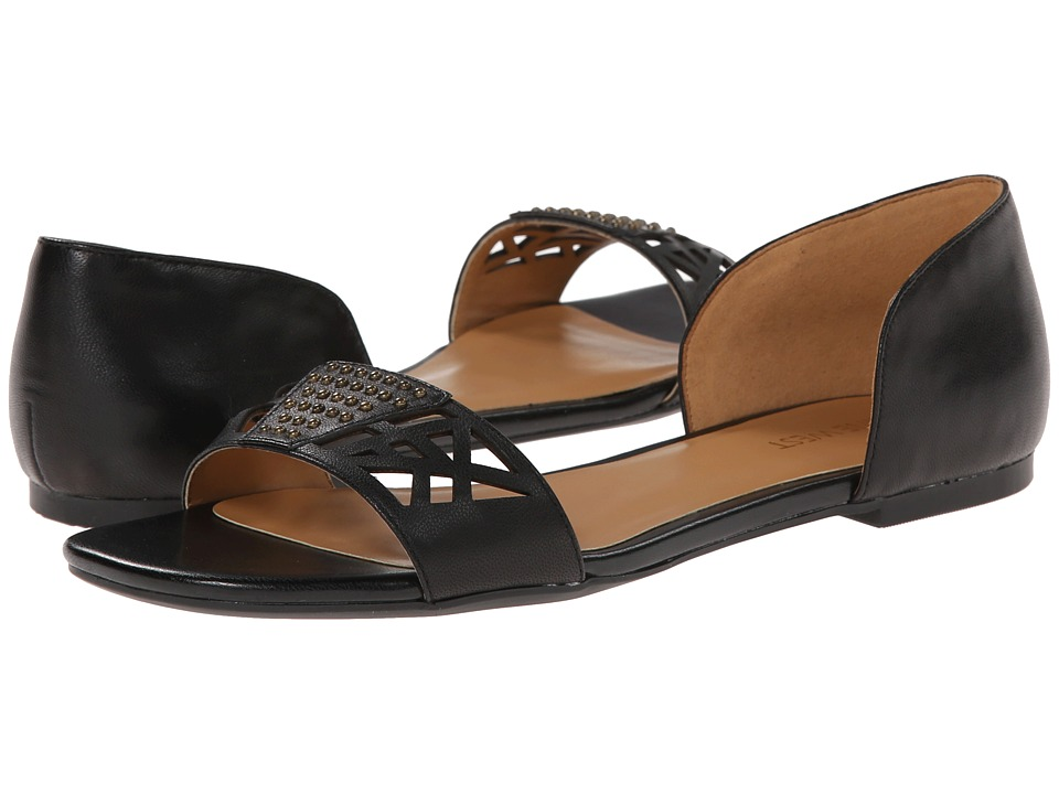 Nine West - Slowdown (Black Leather) Women's Sandals