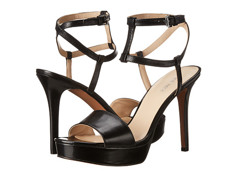 Nine West - Shortcake (Black Leather) High Heels