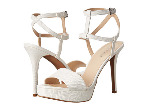 Nine West - Shortcake (White Leather) High Heels