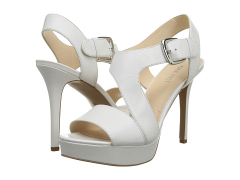 Shop Nine West online and buy Nine West Saynomore White-White Leather High Heels online