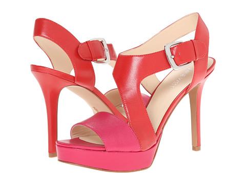 Nine West - Saynomore (Red/Pink Leather) High Heels