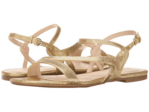Nine West - Safety (Gold Synthetic) Women's Sandals