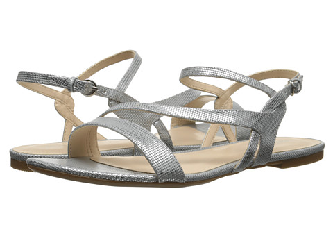 Nine West - Safety (Silver Synthetic) Women's Sandals