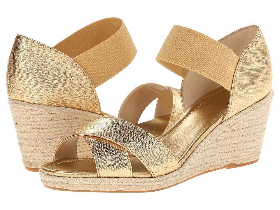 Nine West - Renu (Gold/Gold Metallic) Women's Wedge Shoes