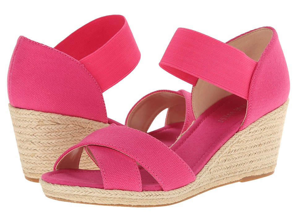 Nine West - Renu (Pink/Pink Canvas) Women's Wedge Shoes