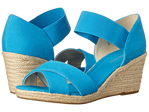 Nine West - Renu (Blue/Blue Canvas) Women's Wedge Shoes